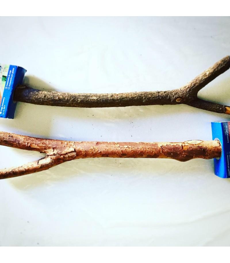 Posatoio a Y in legno Natural Living...