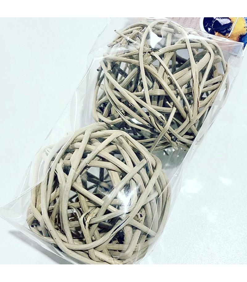 Set di palline di vimini